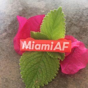 Miami AF bar pin